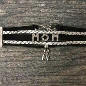 Dance Mom Bracelet - Black & Silver